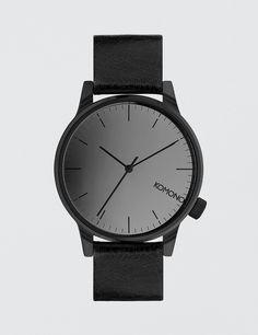 bdddc709e Minimalist watches for women · Komono Winston Mirror Watch Leather  Wristbands, Watch 2, Timeless Design, Street Wear,