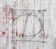 Letter D made from wire size 18х20 cm (7х7.5 Inch)