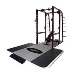 """Pro Maxima PL-365 Pro Full Power Rack w/ Rubber Platform. Frame constructed  from 3"""" x 3"""" high stress, heavy wall steel tubing with laser engraved numbering system for exact bar location.  Includes 6' x 8' Solid Rubber platform with insert. #homegyms http://www.power-systems.com/p-5069-pro-maxima-pl-365-pro-full-power-rack-w-rubber-platform.aspx"""