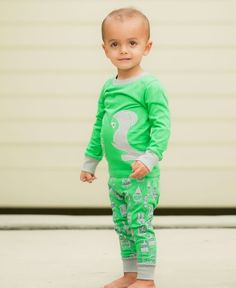 He is mommy's little monster and these pjs let him show it proudly!