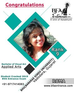 our Student of bfa entrance Cracked BHU Entrance Exam in Applied Art with top 9 rank Top Colleges, Record Holder, Entrance Exam, World Records, Coaching, How To Apply, The Unit, Student