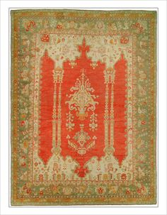 "Oushak Rug Number: 7694 Size: 12'10"" x 17'1"" Rugs R Us Online,"