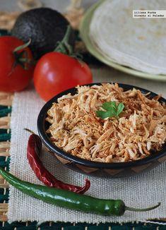 Cómo hacer pulled chicken o pollo deshilachado #recetas #carnes #pollo