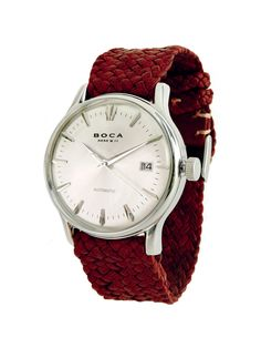 Riviera Silver Automatic - Red Wristband