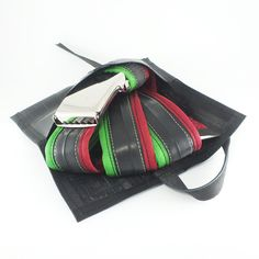 Applegreen-Bourdon belt with pouch from recycled innertubes Pouches, Belts, Recycling, Belt, Repurpose, Upcycle