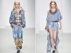 ashish spring summer 2014 lazy hangover outworn denim look outfits