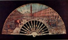 Vintage Fan: 18th Century Italian (Venice) Piazza of San Marco after Canaletto…