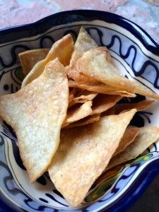 Homemade Baked Tortilla Chips - a delicious way to use up leftover tortillas!