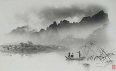Fig. 10. Lang Jingshan, Yanbo yaoting, 1963, composite photograph. University Of Michigan Library, Hokusai, Photography Reviews, Image Descriptions, Chinese Painting, Caption, Landscape, Outdoor, China Style