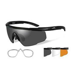adef209093 Sunglasses 176967  Wiley X 308Rx Saber Advanced Sunglasses Light Rust Lens  Matte Black Frame -