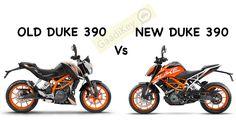 Comparison of Old Duke 390 vs new Duke Design of 2017 KTM Duke 390 is borrowed from next gen KTM Super Duke & has got a futuristic approach to it Duke Motorcycle, Motorcycle Style, Ktm 125 Duke, Ktm Super Duke, New Ktm, Ktm Motorcycles, Bike Poster, Sport Bikes, Custom Bikes