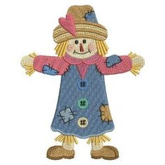 Scarecrow 05 machine embroidery designs