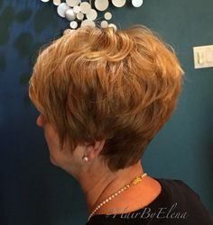 Layered Caramel Pixie For Older Women
