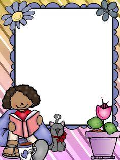 Ladybug Cartoon, Cartoon Kids, Borders For Paper, Borders And Frames, School Frame, Art School, Reading Corner Classroom, Dom Bosco, School Border