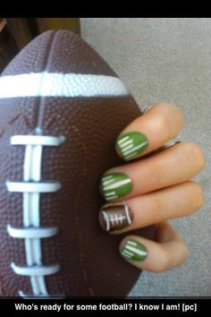 Football nails.....can't wait to do this!!! #NFLSunday