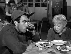 Anthony Quinn Giulietta Masina in La Strada Richard Basehart, Zorba The Greek, Pier Paolo Pasolini, Lawrence Of Arabia, Anthony Quinn, Drama, Best Supporting Actor, Charlie Chaplin, Hollywood