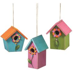 3 Piece Hanging Birdhouse Set