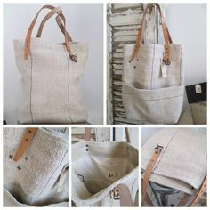 a7018 Linen Bag, Boutique, Couture, Pajama Pants, Reusable Tote Bags, Sewing Ideas, Fabric, Leather, Clothes