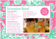 the scorpion bowl lilly pulitzer drink recipe