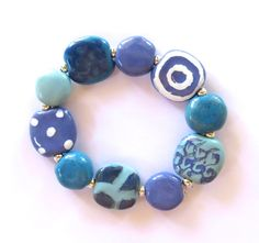 I love this bracelet @Etsy - made with beautiful blue ceramic fair trade beads... perfect for Spring!!