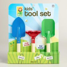 One of my favorite discoveries at WorldMarket.com: Kids' Garden Hand Tool Set