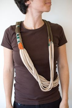 t shirt scarf necklace awesome