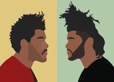 The Weeknd Drawing, The Weeknd Poster, Black Woman Silhouette, Digital Art Tutorial, Step By Step Painting, Psychedelic Art, Minimalist Art, Deck Of Cards, Easy Drawings