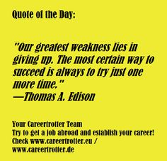 "Quote Of The Day Work Prepossessing Careertrotter Quote Of The Day ""working Hard For Something We Don ."