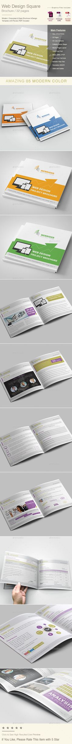 Professional \ Clean Brand Manual Template InDesign INDD - 56 - business manual template