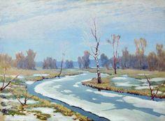 Au début du printemps, huile de Arkhip Ivanovich Kuinji (1842-1910, Russia)