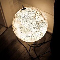 A terrestrial globe light, isn't it cool?
