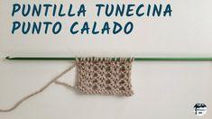 Punto calado 1 - Puntilla tunecina - Crochet tunecino
