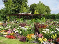 Usos del color en el diseño de un jardín