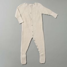 Luxurious Organic Infant and Baby Clothing: onesies : Thermal Stitch Onesie