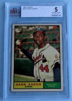 """1961 Topps  Hank Aaron  #415  Beckett (BVG)  -  5  (EX)    """"Great Card!"""""""