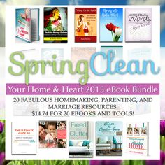 Every home and heart needs a spring cleaning. Let this resource help you do just that!