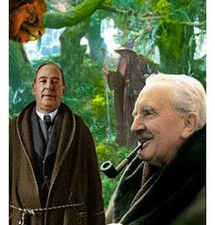 """C S Lewis & J R R Tolkien were great friends and members of a writing group called the Inklings -- Great article about how their friendship influenced their books, """"The Real Fellowship of the Ring - How JRR Tolkien & C.S. Lewis all night arguments about God paved the way for The Lord of the Rings & The Chronicles of Narnia."""" http://www.salon.com/2003/12/03/tolkien_lewis/"""