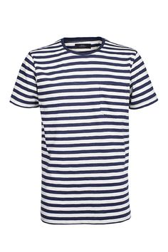 Blue Verkstad t-shirt by Makia. A classic nautical striped, crew neck and short sleeved Street Wear, Mens Fashion, Ss16, Mens Tops, T Shirt, Blue, Clothes, Women, Moda Masculina