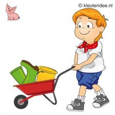 Spel 12: Kruiwagenrace, speldag thema boerderij voor kleuters, kleuteridee.nl , farm games for preschool field day.