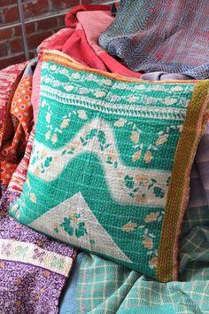Boho Recycled Sari Pillowcase, Cotton