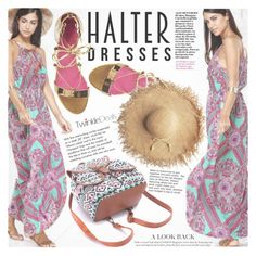 """Shoulder Show: Halter Dresses"" by vanjazivadinovic ❤ liked on Polyvore featuring Oscar Tiye, Tiffany & Co., polyvoreeditorial, halterdresses and twinkledeals"