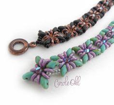 Fiesto Beadwoven Bracelet Pattern by openseed on Etsy