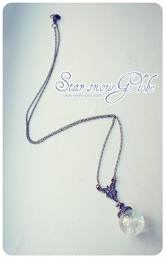 Star Snow Globe necklace star necklace glass orb by 13thPsyche, €14.99