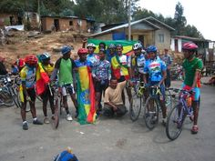 Hanging with the Ethiopian Cycling team in Addis Ababa, Ethiopia's capital city