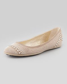Great little stylish everyday flat- could be cute dressed up (pretty w white slacks) or down (w boyfriend jeans)- Welda in Latte from @Jimmy Choo sold by @Neiman Marcus