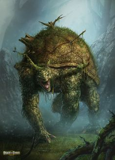 Forest Turtle Monster by ARTOFJUSTAMAN.deviantart.com on @deviantART