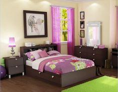bedroom - art on walls. Mirror. Bedside tables