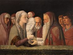 Giclee Print: Presentation at the Temple by Giovanni Bellini : Renaissance Kunst, Renaissance Artists, Renaissance Paintings, Italian Renaissance, British Museum, Andrea Mantegna, Composition Painting, Giovanni Bellini, Giorgio Vasari