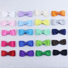 Wholesale 20pcs 4inch baby girl solid double layers bowtie hair bows clip 2809 Y #MyOwnUniqueDesign