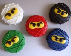 Lego Ninjago Oreo Cookie Pops